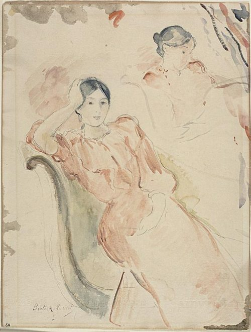 fyeahwomenartists:  Berthe MorisotJeanne Pontillon, c. 1893Watercolor, over graphite, on ivory wove paper (via About This Artwork | The Art Institute of Chicago)