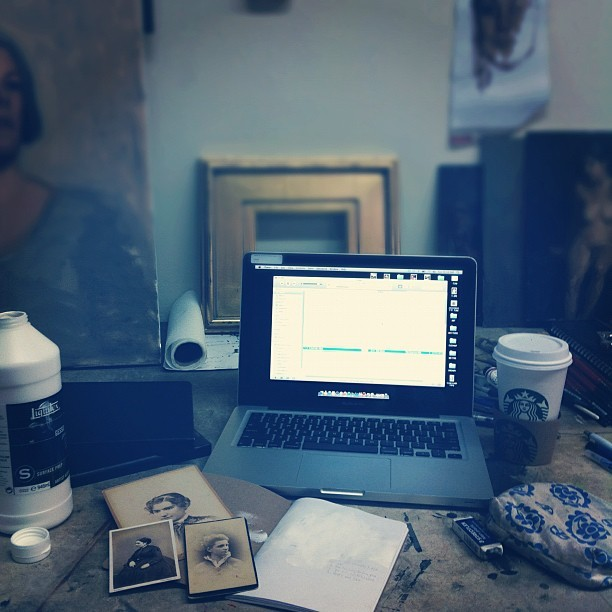 A days work (Taken with Instagram at B2 Artist Studios)