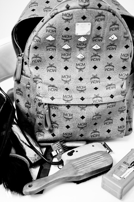 domchucktaylor:  ryandonkjones:  MCM SWAGGA BACKPACK..  fuck these are so pretty
