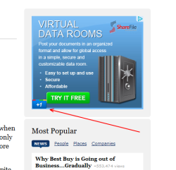 Google Plus is now in image ads. The Google Plus image looks a bit too large for the ads.