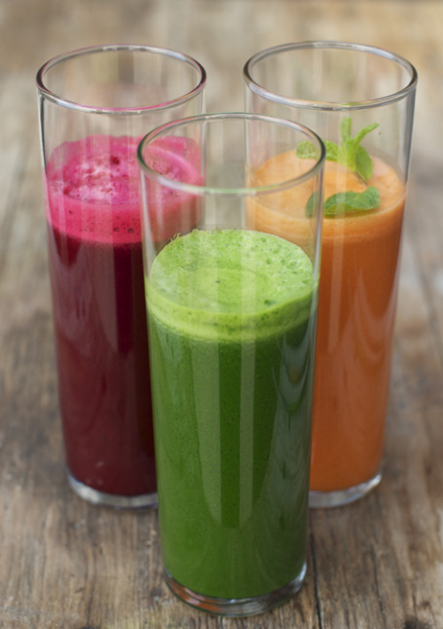 fresh kale, carrot, and beet juices.