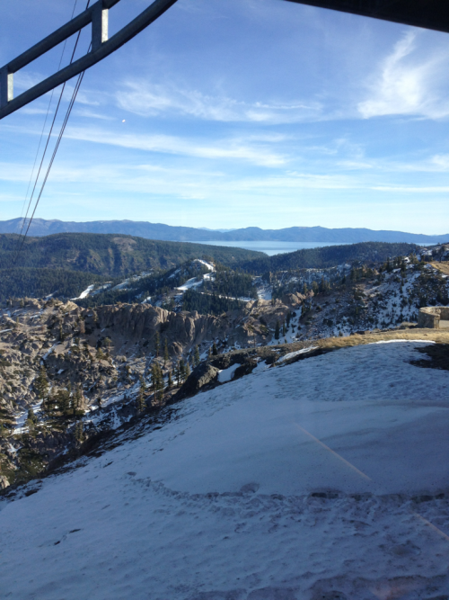 Amazing view from High Camp at Squaw Valley!!! I am loving life now. Lake Tahoe on the horizon. I love it!!
