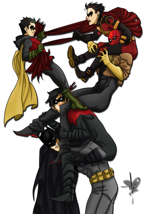 ilegzz:  The new BatFamily by ~ile-o