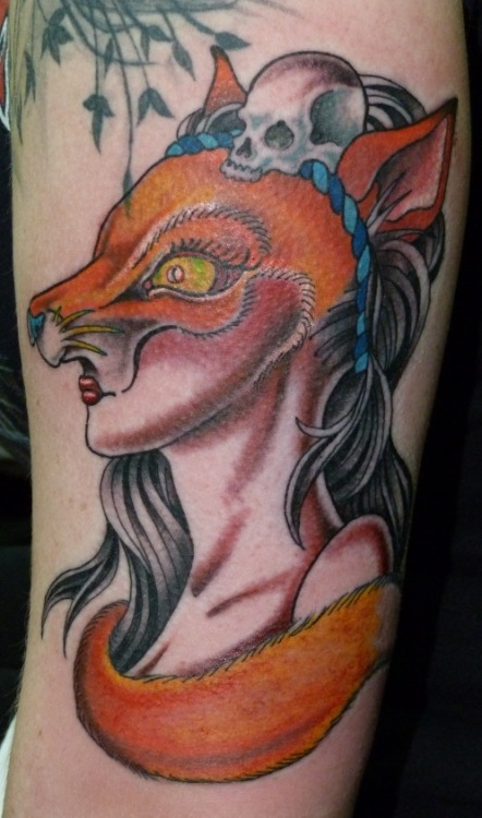 Foxy Lady.Done by Soap from Lab Monkey Tattoo Studio in Stirling :)