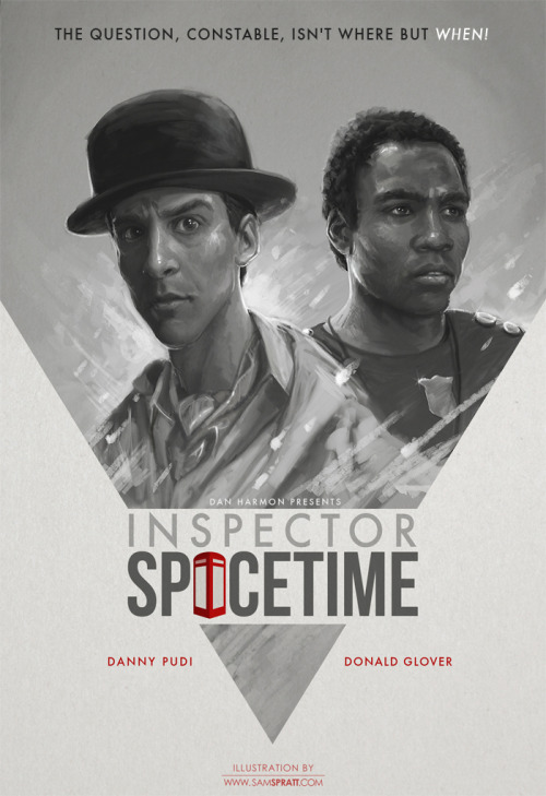 "samspratt:  ""Inspector Spacetime"" - by Sam Spratt NBC's Community may be in a state of potential cancellation, but before I dive deep into my art hole on new year client-projects, I wanted to knock out something fun. If you're not a fan of the show already—get on it. Follow my: portfolio website,  tumblr,  facebook artist's page and twitter."