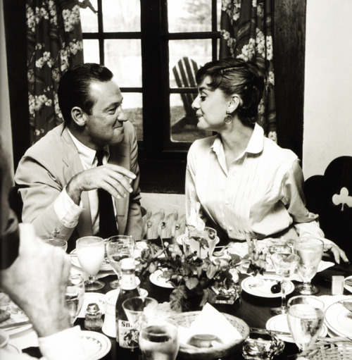 Audrey Hepburn and William Holden (1954)