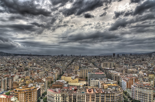 Vista su Barcellona dalla Sagrada Familia (HDR) on Flickr.Ricordi di Barcellona