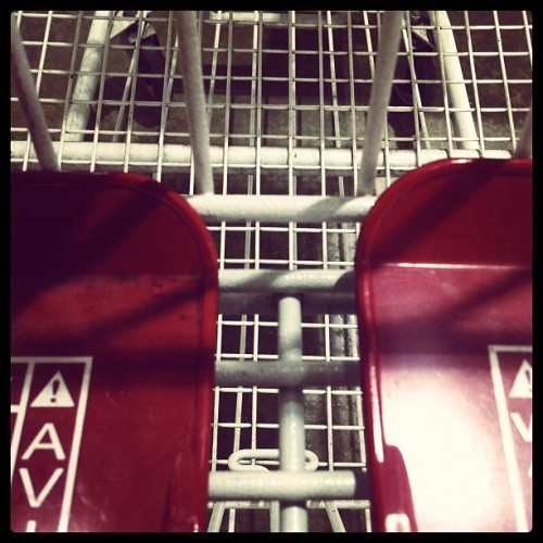 shopping cart : front seat please #iphonegraphy #puertorico #shooping #cart #costco #metal #red #white (Taken with Instagram at Costco)