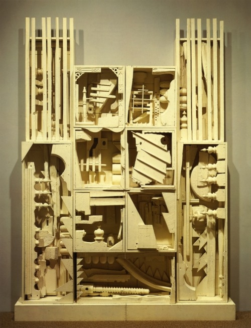 cavetocanvas:  Louise Nevelson, Dawn's Wedding Chapel II, 1959