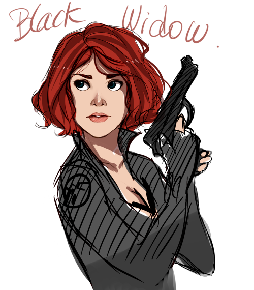Black Widow sketch ( I'm really excited for the Avengers , May please come faster ;o;)