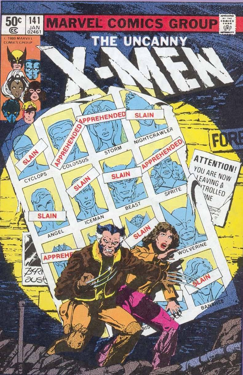 comicbookcovers:  X-Men #141, January 1981, cover by John Byrne and Terry Austin