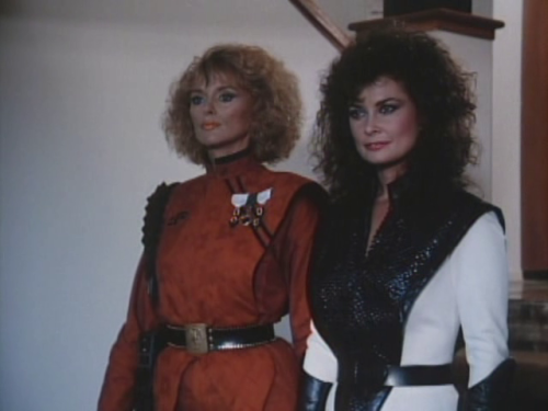 "Sybil Danning and Jane Badler in ""V"""