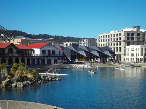 The harbourside, Wellington. Rent a pedalo or kayak, watch the locals jumping off the jetty, examine the artistic sculptures on display or simply enjoy sunshine with an ice cream/coffee. Wellington's waterfront is an excellent place to wile away a lazy afternoon.