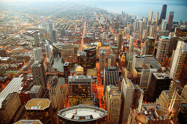 | ♕ |  Sears Tower View - North of Chicago  | by © Nic Oatridge