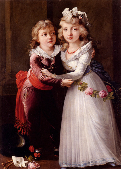 calantheandthenightingale:  Portrait of a Young Boy and Girl by Joseph Dorffmeister (1764 - 1814)