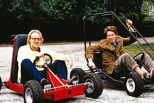 filmtrivia:    Owen Wilson and Wes Anderson on the set of Rushmore.