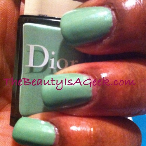 'Waterlilly' scented nail polish from #Dior #spring2012. 2 coats. #swatches #nails #shimmer #luxury (Taken with instagram)