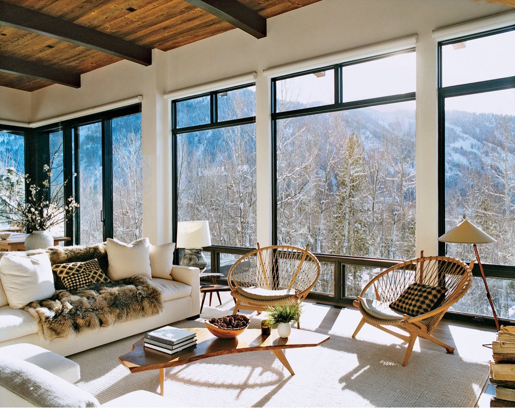 With endless views and warm wood tones, this room provides an escape any man would be happy to retreat to.