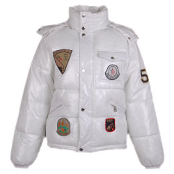 Cheap Moncler Kids Jackets ›               Moncler Kids Multiple Logo Jacket- White