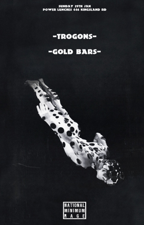 Gold Bars' upcoming tour, we join them on wednesday the 1st of February in Nottingham, more details TBC. Great Poster! goldbarzzz:  NEXT GIG -  START OF TOUR! LONDON 29TH JAN W/ TROGONS! @ POWER LUNCHES THEN NOTTINGHAM 1ST FEB W/ THEE LUDDS @ THE CHAMELEON  GLASGOW 2ND FEB @ THE OLD HAIRDRESSERS LIVERPOOL 4TH FEB W/ SLOWCOACHES @ CHEW DISCO 5TH FEB TBC
