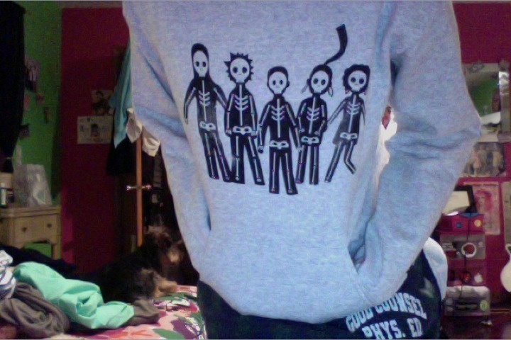 This is the Misfits hoodie Ryan got me for Christmas!
