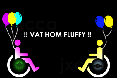 "jxcca:  VAT HOM FLUFFY! (2012-01-04) ""Vat hom fluffy!"" roughly means ""Take it home, Tiger!"" in Afrikaans and comes from the short film ""Umshini Wam"" (directed by Harmony Korine and featuring Die Antwoord), at about 10:05 into it. The graphic above also tributes the film. This image helped too, as I used Adobe Photoshop on my PC computer to pump out the custom shapes and take it to the next level. I feel high right now. I have not taken any drugs so I don't even know why.  i love them!!!!!"
