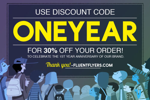 Home: http://fluentflyers.com Shop: http://fluentflyers.bigcartel.com Code up for limited time. + shirt-giveaway contest here!