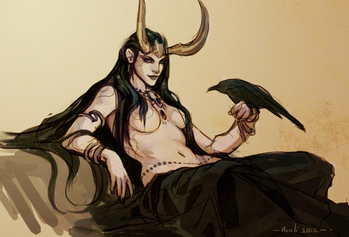 avali:  Lady Loki doodle from the Livestream. I blame Steve Rogers for subliminal boobs.