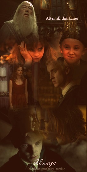 "hagridisbigandhairy:  ""After all this time?"" … ""Always."" {Dramione style} ;)"