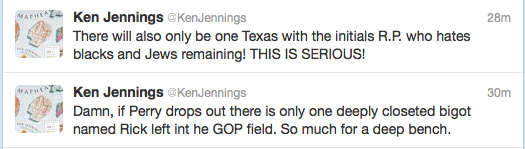 stfuconservatives:  goodreasonnews:  Ken Jennings, Jeopardy genius, taking pot shots at GOP field. I love it!