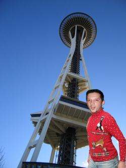 The trip starts off in Seattle with the Space Needle.