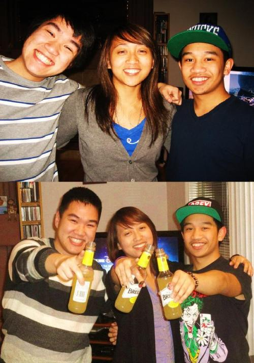 New Years Trio from 2010 and 2011. What will 2012 have in store for us?! :)  (Notice how we're all wearing similar clothes from the previous year…LOL!)