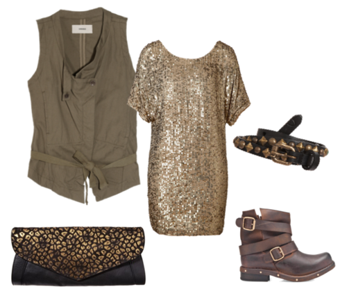 gold sequin holiday dress