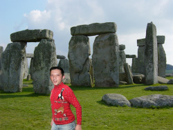 The first stop overseas, Stonhenge.