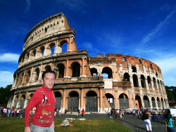 Enough of France, Kyle heads to Italy to see the Coliseum.