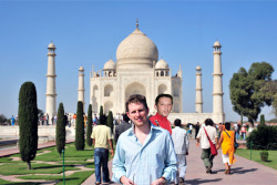 Have you ever been to the Taj Mahal? Kyle Rancourt has, where he totally photo bombed this guy's picture.