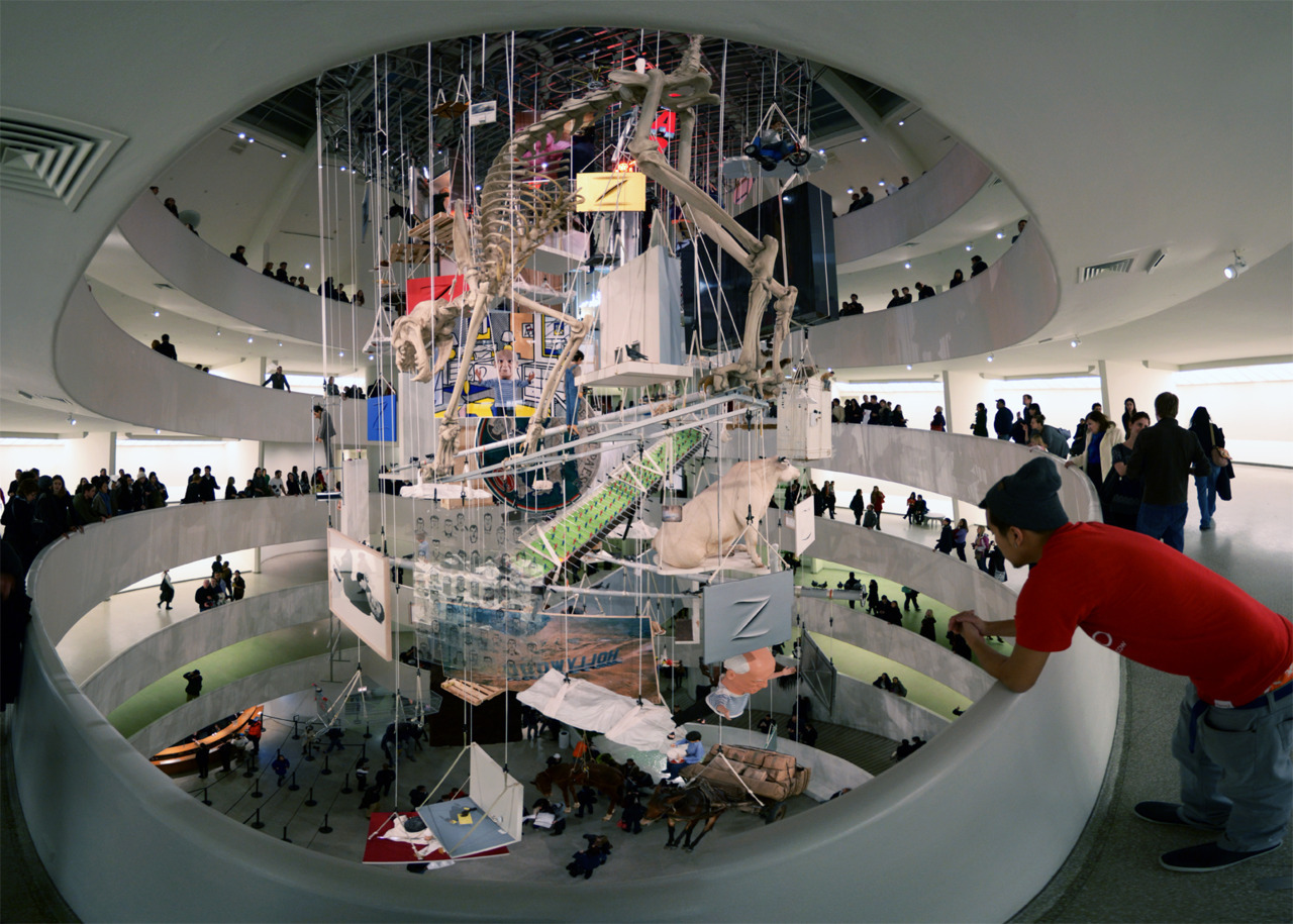 Maurizio Cattelan: All (a retrospective of his works) @ The Guggenheim © Chris Hyun Choi