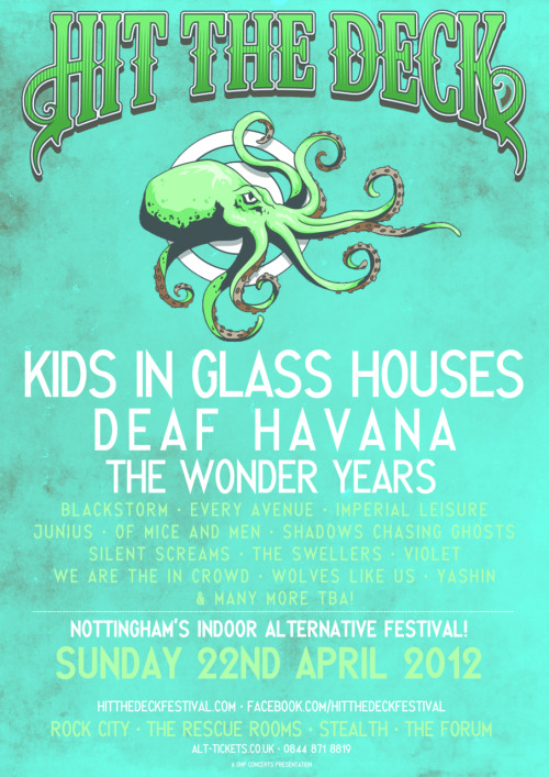 our first headline show of 2012. Hit The Desk Festival - Nottingham - April 22nd 2012 - http://www.hitthedeckfestival.com/