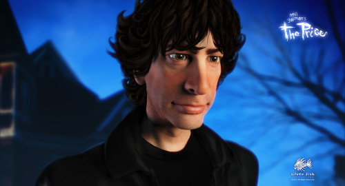 neil-gaiman:  Christopher Salmon and his team continue their animated version of The Price. I don't think I'd realised that their animated version of me would be quite so me-ey…