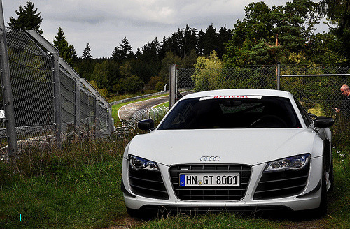 carpr0n:  Security is tight Starring: Audi R8 GT (by Jan L. | JLPhotography.)