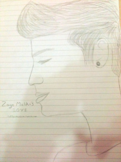 1dfanobsession:  I tryed drawing Zayn=) what do you think ?