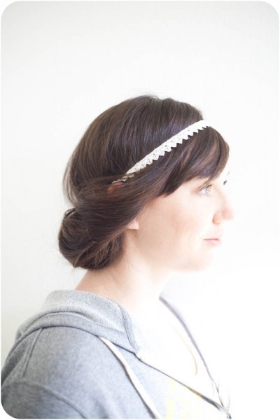 Boho Hair Style | Elisa McLaughlin This hair style is not only different and pretty, but easy to do plus quick for those mornings when you want to look put together without having to flat iron/hot curl/blow dry. And cooler, Elisa has a DIY for how to make the headband!