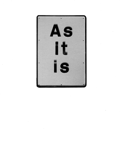 """as it is"" by darren almond"