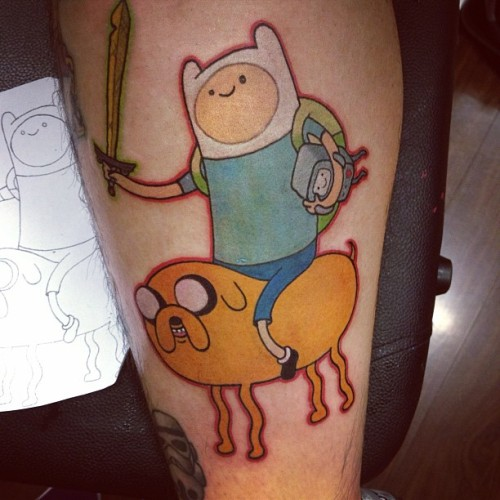 My Adventure Time tattoo! Done by ryry @ Seventh Circle, Brisbane.
