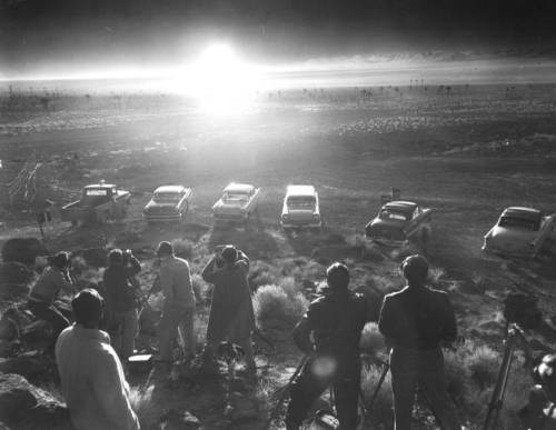 'Priscilla' nuclear test detonation, Nevada, June 24th 1957.