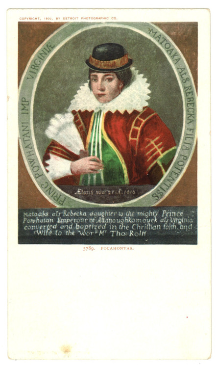 From the archives, an old postcard of Pocahontas