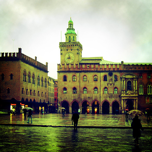 Rainy day in Bologna, Italy (by mark.os)