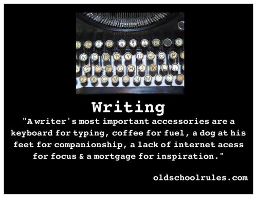 A WRITER'S MOST IMPORTANT ACCESSORIES ARE…
