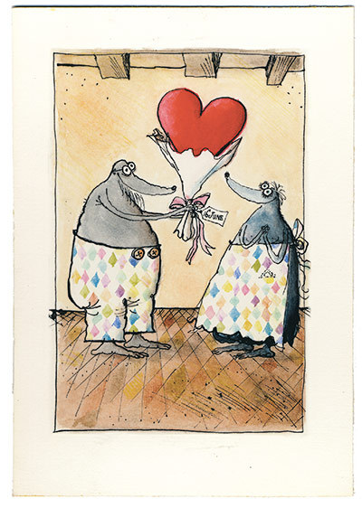 Photograph: Harper Collins Cartoonist Ronald Searle's drawings for his wife Monica, as she was treated for a rare and virulent form of cancer over a  five-year period in the early 1970s. She survived, and the intimate  drawings stand as a moving testimony to love and hope