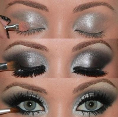 How to/Silver & Black Smoky Eye